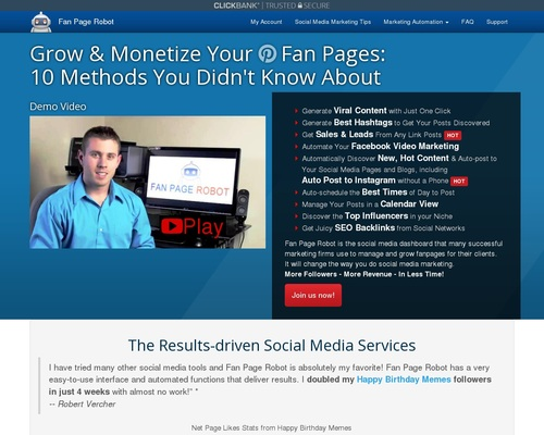 Fan Page Robot – Automated System To Grow Social Media Fanbase & Leads