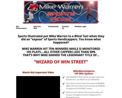Mike Warren Sports Picks