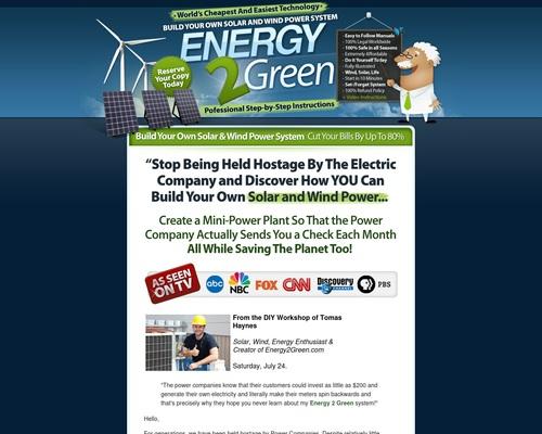 Energy2green – Wind And Solar Power System – *#1 Home Energy Program