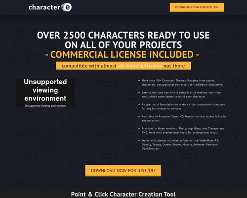 Character-e – Over 2500 Characters, Mascots & Toons