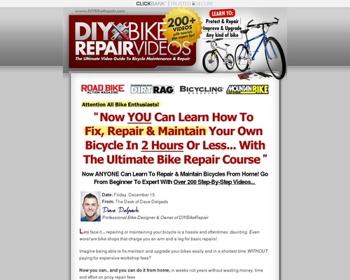 Newly Updated! Diy Bike Repair Course – Red Hot Conversions!