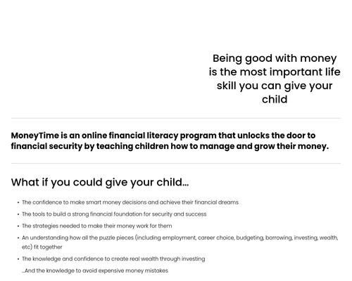Online Financial Literacy Program For Children