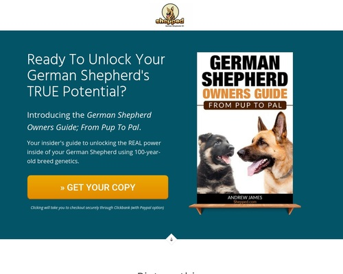German Shepherd Owners Guide – From Pup To Pal